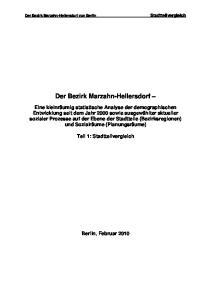 Der Bezirk Marzahn-Hellersdorf