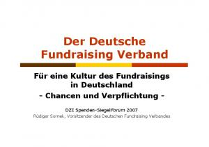 Der Deutsche Fundraising Verband