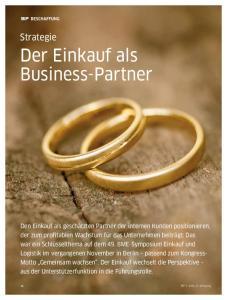 Der Einkauf als Business-Partner