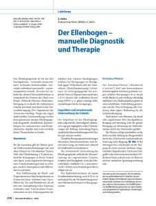 Der Ellenbogen manuelle Diagnostik und Therapie