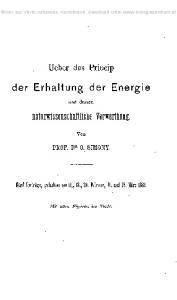 der Erhaltung der Energie