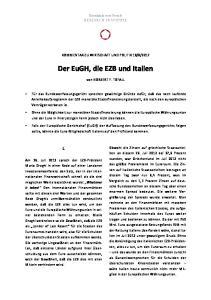 Der EuGH, die EZB und Italien