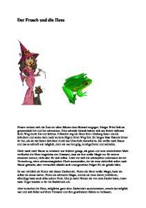 Der Frosch und die Hexe