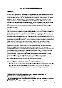 Der FWF im internationalen Kontext