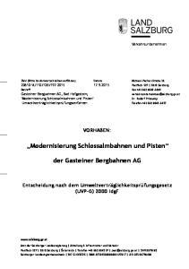 der Gasteiner Bergbahnen AG