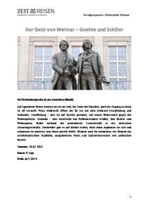 Der Geist von Weimar Goethe und Schiller