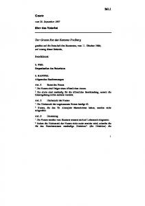 Der Grosse Rat des Kantons Freiburg