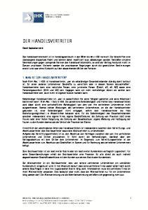 DER HANDELSVERTRETER 1. WAS IST DER HANDELSVERTRETER?