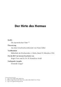 Der Hirte des Hermas