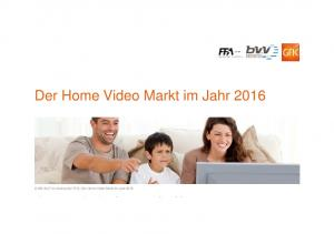 Der Home Video Markt im Jahr 2016