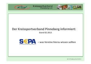 Der Kreissportverband Pinneberg informiert: Stand was Vereine hierzu wissen sollten