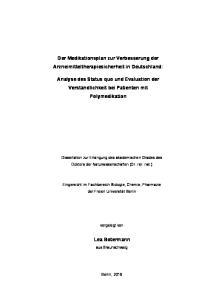 Der Medikationsplan zur Verbesserung der Arzneimitteltherapiesicherheit in Deutschland: