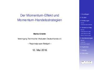 Der Momentum-Effekt und Momentum-Handelsstrategien