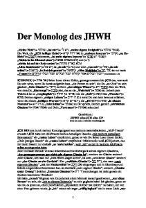 Der Monolog des JHWH