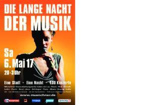DER MUSIK DIE LANGE NACHT. Eine Stadt - Eine Nacht Konzerte