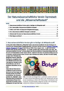 Der Naturwissenschaftliche Verein Darmstadt und die Wissenschaftsstadt