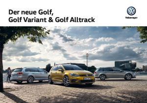 Der neue Golf, Golf Variant & Golf Alltrack
