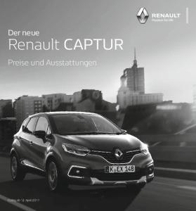 Der neue. Renault CAPTUR. Preise und Ausstattungen
