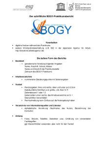 Der schriftliche BOGY-Praktikumsbericht