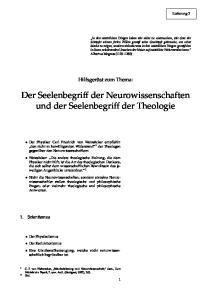 Der Seelenbegriff der Neurowissenschaften und der Seelenbegriff der Theologie