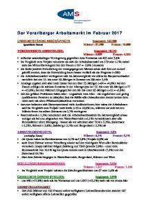 Der Vorarlberger Arbeitsmarkt im Februar 2017