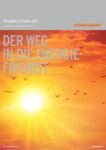 DER WEG IN DIE ENERGIE- FREIHEIT