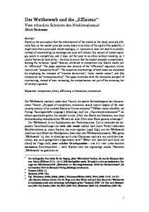 Der Wettbewerb und die Effizienz Vom ethischen Scheitern des Neoliberalismus 1 Ulrich Thielemann