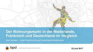 Der Wohnungsmarkt in der Niederlande, Frankreich und Deutschland im Vergleich