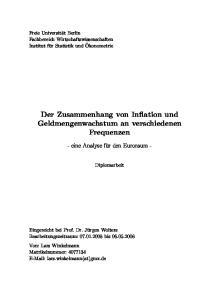 Der Zusammenhang von Inflation und Geldmengenwachstum an verschiedenen Frequenzen