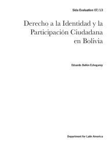 Derecho a la Identidad y la Participación Ciudadana en Bolivia