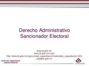 Derecho Administrativo Sancionador Electoral
