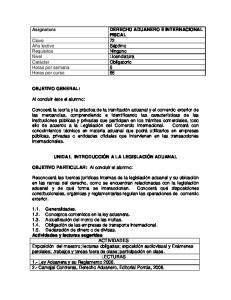 DERECHO ADUANERO E INTERNACIONAL FISCAL Clave 72