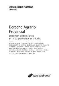 Derecho Agrario Provincial
