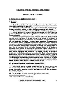 DERECHO CIVIL IV: DERECHO DE FAMILIA 1