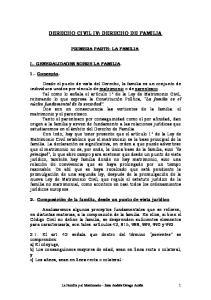 DERECHO CIVIL IV: DERECHO DE FAMILIA
