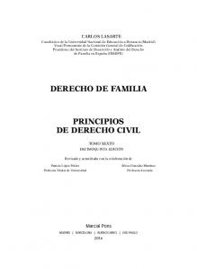 DERECHO DE FAMILIA PRINCIPIOS DE DERECHO CIVIL