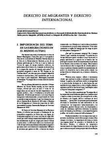 DERECHO DE MIGRANTES Y DERECHO INTERNACIONAL