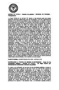 DERECHO DE PETICION - Presupuestos