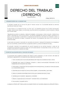 DERECHO DEL TRABAJO (DERECHO)