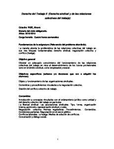 Derecho del Trabajo II (Derecho sindical y de las relaciones colectivas del trabajo)