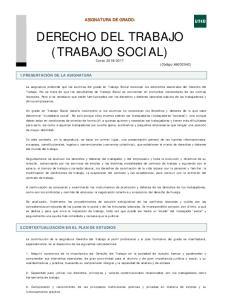 DERECHO DEL TRABAJO (TRABAJO SOCIAL)