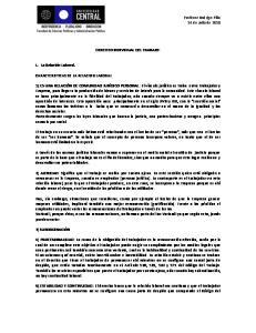 DERECHO INDIVIDUAL DEL TRABAJO: