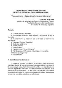 DERECHO INTERNACIONAL PRIVADO DERECHO PROCESAL CIVIL INTERNACIONAL