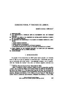 DERECHO PENAL Y TRATADO DE LISBOA