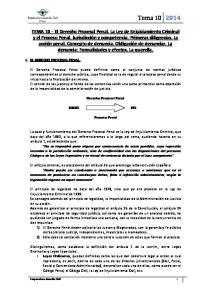 Derecho Procesal Penal. Proceso Penal