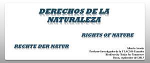 DERECHOS DE LA NATURALEZA