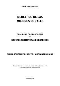 DERECHOS DE LAS MUJERES RURALES