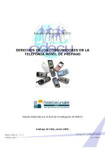 DERECHOS DE LOS CONSUMIDORES EN LA TELEFONIA MOVIL DE PREPAGO