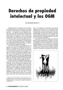 Derechos de propiedad intelectual y los OGM