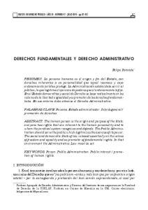 DERECHOS FUNDAMENTALES Y DERECHO ADMINISTRATIVO